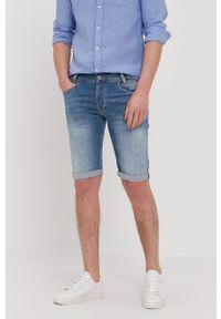 Niebieskie szorty Pepe Jeans casualowe, gładkie, na co dzień