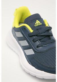 Niebieskie buty sportowe Adidas na sznurówki, z okrągłym noskiem