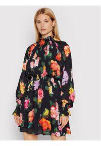MSGM Sukienka koktajlowa 3141MDA39 217656 Czarny Regular Fit. Kolor: czarny. Styl: wizytowy