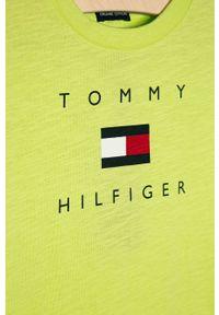 T-shirt TOMMY HILFIGER na co dzień, z nadrukiem, casualowy