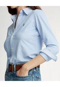Ralph Lauren - RALPH LAUREN - Koszula Oxford. Typ kołnierza: polo. Kolor: niebieski. Materiał: materiał, bawełna. Długość rękawa: długi rękaw. Długość: długie. Wzór: kolorowy, haft, aplikacja. Styl: klasyczny