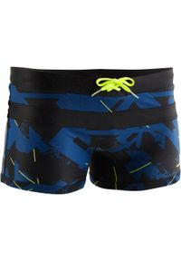 NABAIJI - Bokserki Pływackie 100 Pool All Dry Męskie. Kolor: niebieski. Materiał: poliamid, materiał