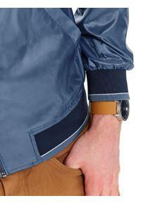 Niebieska kurtka TOP SECRET krótka, sportowa, z długim rękawem, na wiosnę
