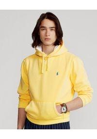 Ralph Lauren - RALPH LAUREN - Żółta bluza z kapturem. Typ kołnierza: kaptur. Kolor: żółty. Wzór: haft. Styl: klasyczny