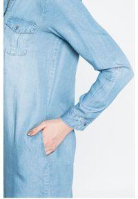 Niebieska sukienka Vero Moda casualowa, na co dzień, prosta