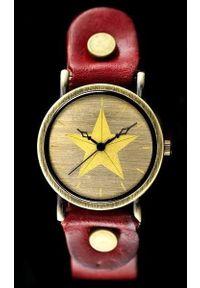 Czerwony zegarek NoName retro