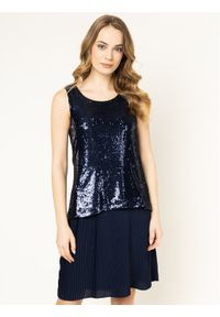 Niebieska sukienka koktajlowa Trussardi Jeans wizytowa