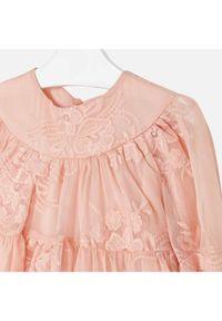 Pomarańczowa sukienka Mayoral elegancka