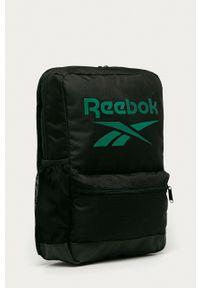 Reebok - Plecak. Kolor: czarny. Wzór: nadruk