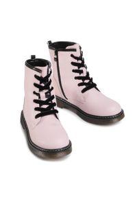 Nelli Blu - Trapery NELLI BLU - CS102607-12 Pink 1. Okazja: na spacer. Kolor: różowy. Materiał: skóra. Sezon: zima