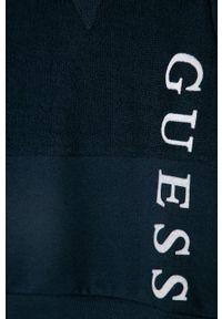 Niebieska bluza Guess na co dzień, gładkie, bez kaptura, casualowa