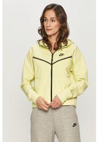 Nike Sportswear - Bluza. Okazja: na co dzień. Typ kołnierza: kaptur. Kolor: żółty. Styl: casual