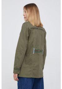 Desigual - Koszula bawełniana. Okazja: na co dzień. Kolor: zielony. Materiał: bawełna. Wzór: haft. Styl: casual