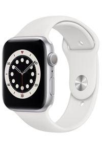 APPLE - Apple smartwatch Watch Series 6, 40mm Silver Aluminium Case with White Sport Band (MG283HC/A). Rodzaj zegarka: smartwatch. Kolor: srebrny, biały, wielokolorowy. Styl: sportowy