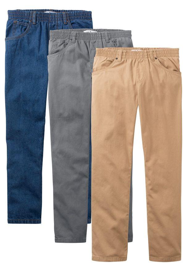 Szare spodnie bonprix klasyczne