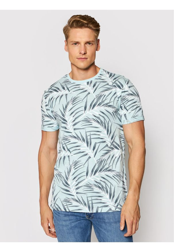 Only & Sons T-Shirt Iason 22016762 Niebieski Slim Fit. Kolor: niebieski