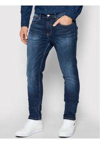 Tommy Jeans Jeansy Austin DM0DM09846 Granatowy Slim Fit. Kolor: niebieski