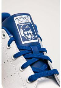 Białe buty sportowe adidas Originals z cholewką, na sznurówki, z okrągłym noskiem