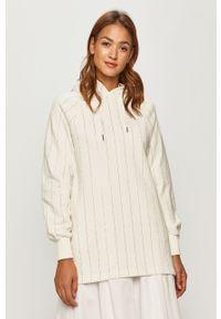 Biała bluza Silvian Heach na co dzień, raglanowy rękaw, z kapturem