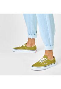 Zielone buty sportowe Vans Vans Era, z cholewką