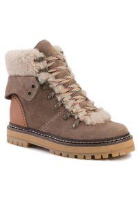 Brązowe buty trekkingowe See By Chloé