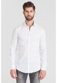 Biała koszula Trussardi Jeans biznesowa, na lato, na co dzień