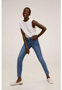 Niebieskie jeansy mango #7