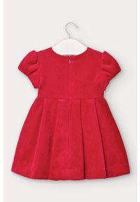 Czerwona sukienka Mayoral rozkloszowana, mini