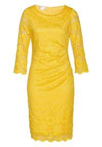 Żółta sukienka bonprix elegancka