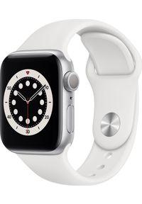 APPLE - Smartwatch Apple Watch Series 6 GPS 40mm Silver Alu White Sport Biały (MG283WB/A). Rodzaj zegarka: smartwatch. Kolor: biały. Styl: sportowy