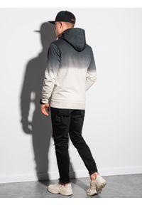 Ombre Clothing - Bluza męska z kapturem B1148 - grafitowa - XXL. Typ kołnierza: kaptur. Kolor: szary. Materiał: bawełna #2