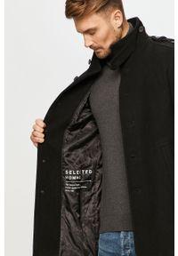 Czarny płaszcz Selected casualowy, na co dzień