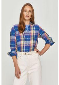 Niebieska koszula Polo Ralph Lauren polo, długa, na co dzień, casualowa