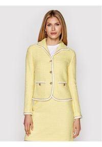 Luisa Spagnoli Żakiet Viry 538018 Żółty Regular Fit. Kolor: żółty