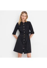 Czarna sukienka Mohito koszulowa