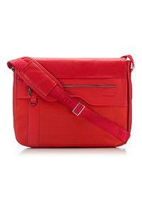 Czerwona torba na laptopa Wittchen