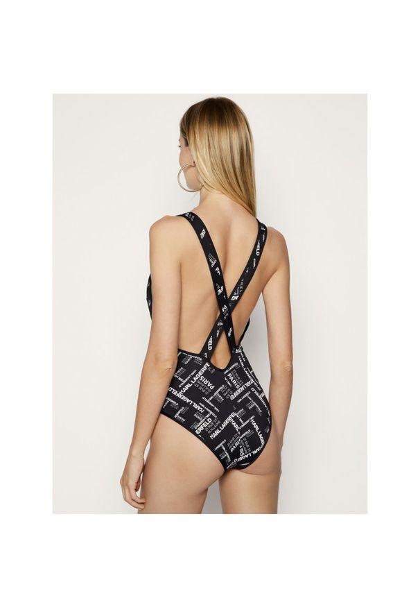 Czarny strój kąpielowy Karl Lagerfeld