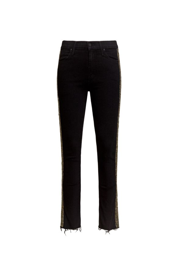Czarne spodnie Mother z aplikacjami