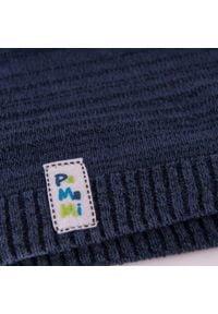 Wiosenna czapka chłopięca PaMaMi - Granatowy. Kolor: niebieski. Materiał: bawełna, elastan. Sezon: wiosna