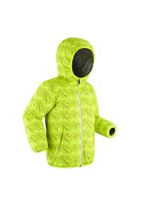 WEDZE - Kurtka narciarska dla dzieci Wedze Warm Reverse 100. Kolor: żółty, wielokolorowy, szary. Materiał: materiał. Sport: narciarstwo
