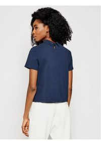 Tommy Jeans Polo Linear Logo DW0DW09909 Granatowy Regular Fit. Typ kołnierza: polo. Kolor: niebieski