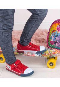 UNDERLINE - Trampki dziecięce Underline 95B1888 Czerwone. Zapięcie: rzepy. Kolor: czerwony. Materiał: tkanina, skóra, guma