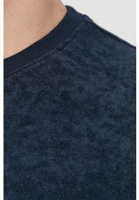 Brave Soul - T-shirt. Okazja: na co dzień. Kolor: niebieski. Materiał: dzianina. Wzór: gładki. Styl: casual