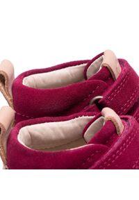 ecco - Trzewiki ECCO - Crepetray Mini 75346105293 Red Plum. Kolor: czerwony. Materiał: skóra, zamsz. Szerokość cholewki: normalna. Styl: młodzieżowy