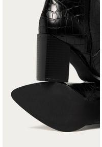 Czarne kozaki Answear Lab na obcasie, z cholewką #5