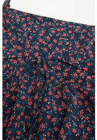 Czarna sukienka Mango Kids w kwiaty, casualowa, prosta, na co dzień