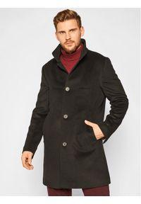 Oscar Jacobson Płaszcz przejściowy Storviker 7154 9049 Czarny Regular Fit. Kolor: czarny. Materiał: wełna
