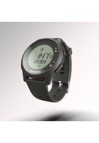 KALENJI - Zegarek do biegania ATW100 czarny. Rodzaj zegarka: cyfrowe. Kolor: czarny