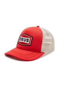 Deus Ex Machina - Czapka z daszkiem DEUS EX MACHINA - Speed Stix Trucker DMS2071019 Red. Kolor: czerwony. Materiał: materiał, poliester