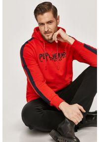 Pepe Jeans - Bluza bawełniana Andre. Okazja: na co dzień. Kolor: czerwony. Materiał: bawełna. Styl: casual